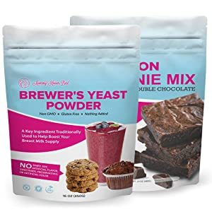 Brewer's Yeast Powder & Lactation Brownie Mix for Lactation Cookies for Breastfeeding