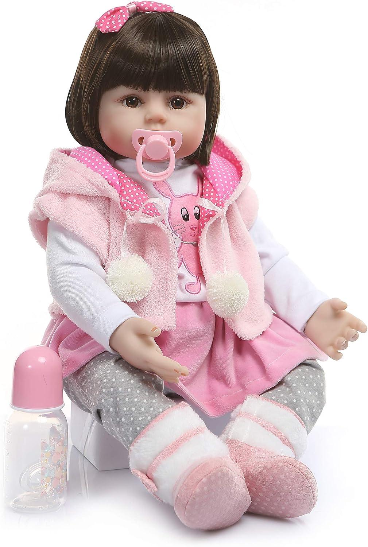 iCradle リアルライフ 24インチ 60cm リボーンドール 幼児 フリドリン ソフトシリコン ビーブ ドール ラブリープリンセス ロングヘア 人形 3歳以上向け BBU-24
