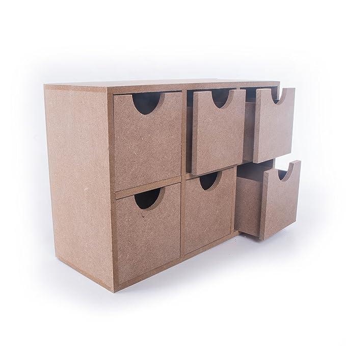 SEARCHBOX - Organizador de Mesa con cajones y 6 cajones, para ...