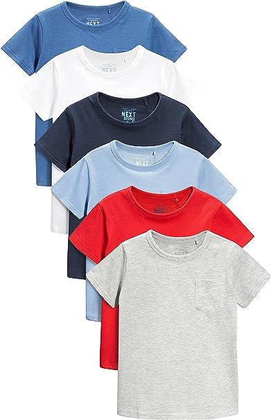 next Niños Pack De Seis Camisetas Básicas Manga Corta (3 Meses - 6 ...