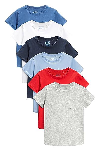 next Niños Pack De Seis Camisetas Básicas Manga Corta (3 Meses - 6 Años) Corte Estándar 5-6 años: Amazon.es: Ropa y accesorios