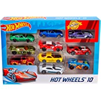 Hot Wheels 10 Cars Gift Pack, Assortment