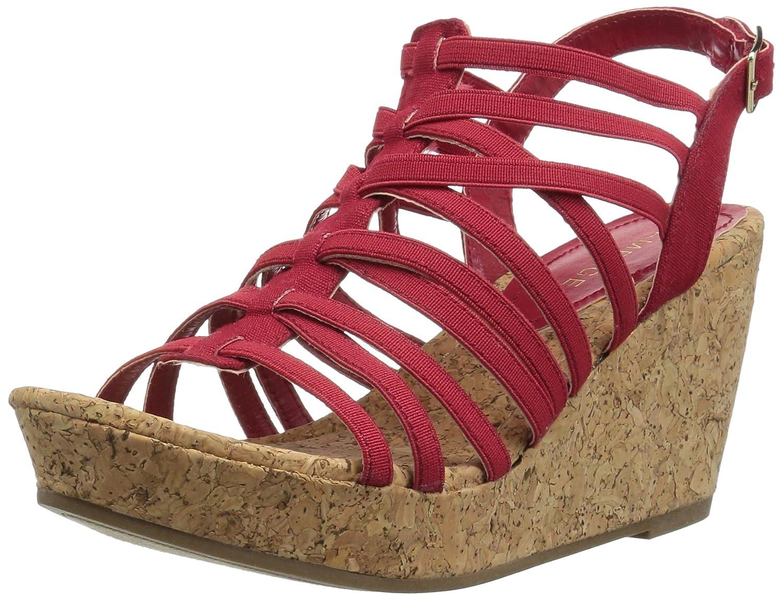 Rampage Women's Josie Wedge Sandal B079LNZQNQ 10 B(M) US|Red Stretch