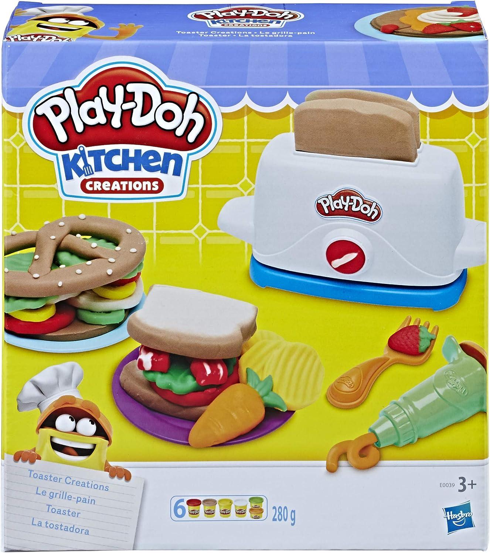 Play-Doh PLAYDOH E0039EU4 Kitchen Toaster Creations, Multicolour