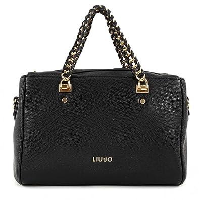 a77da6d0f8cb Liu jo Anna Chain top handle bag M Black  Amazon.co.uk  Shoes   Bags
