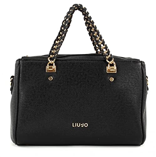 2d35681f7f780 Liu jo Anna Chain top handle bag M Black  Amazon.it  Scarpe e borse