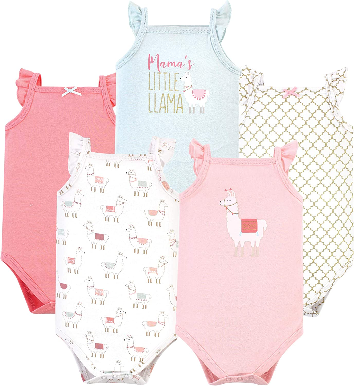 Hudson baby Unisex-Baby Unisex Baby Cotton Sleeveless Bodysuits Baby and Toddler T-Shirt Set