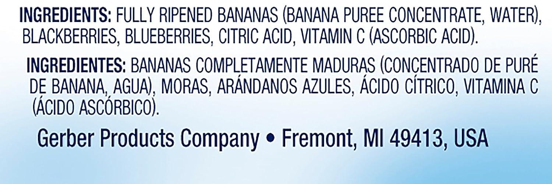 Amazon.com : Gerber 2nd Stage Food, Banana Mixed Berries, 2 pk, 7 oz ...