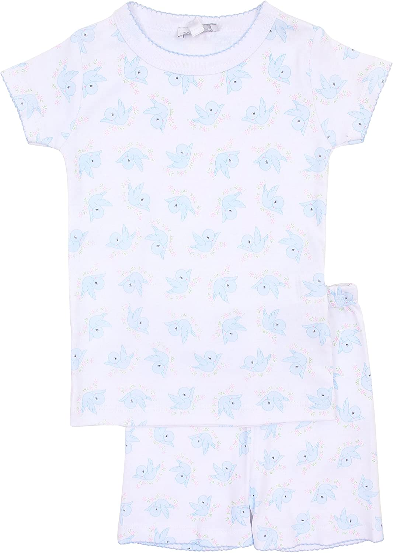 Magnolia Baby Baby Girl Vintage Birdie Short Pajamas Pink