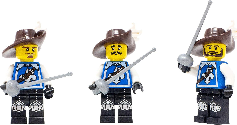 LEGO Three Musketeers - Custom 3 Musketeers (Athos, Aramis, Porthos) Minifigure
