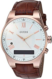 f28eb513b GUESS Men's Stainless Steel Connect Smart Watch - Amazon Alexa, iOS and  Android Compatible,