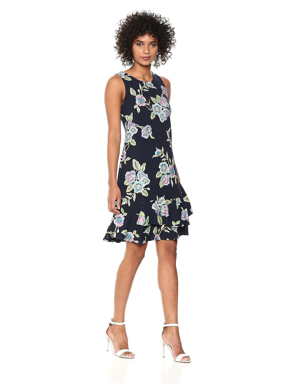 bbf4d452601b ROBBIE BEE Women s Sleeveless Ruffle Hem Sheath Dress at Amazon Women s  Clothing store