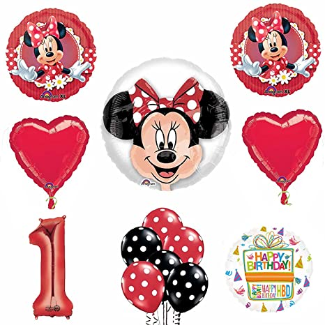 Image Unavailable Not Available For Color Minnie Mouse 1st Birthday Party Supplies