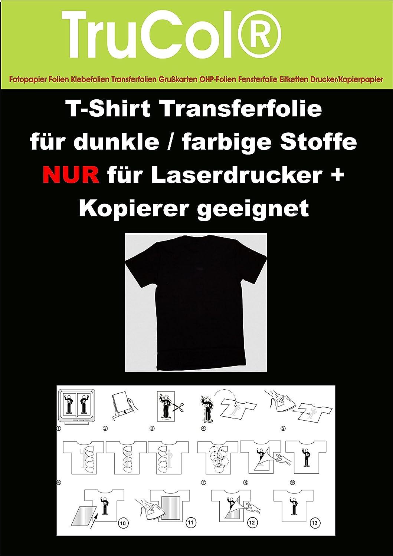 25 hojas de A4 Camiseta papel de transferencia de papel de ...