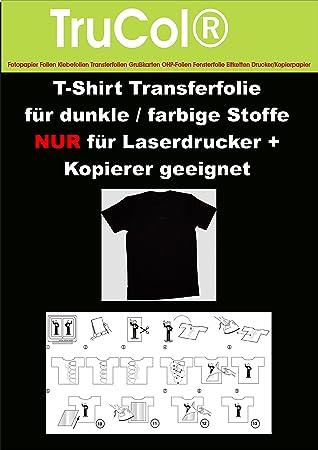 25 hojas de A4 Camiseta papel de transferencia de papel de papel ...