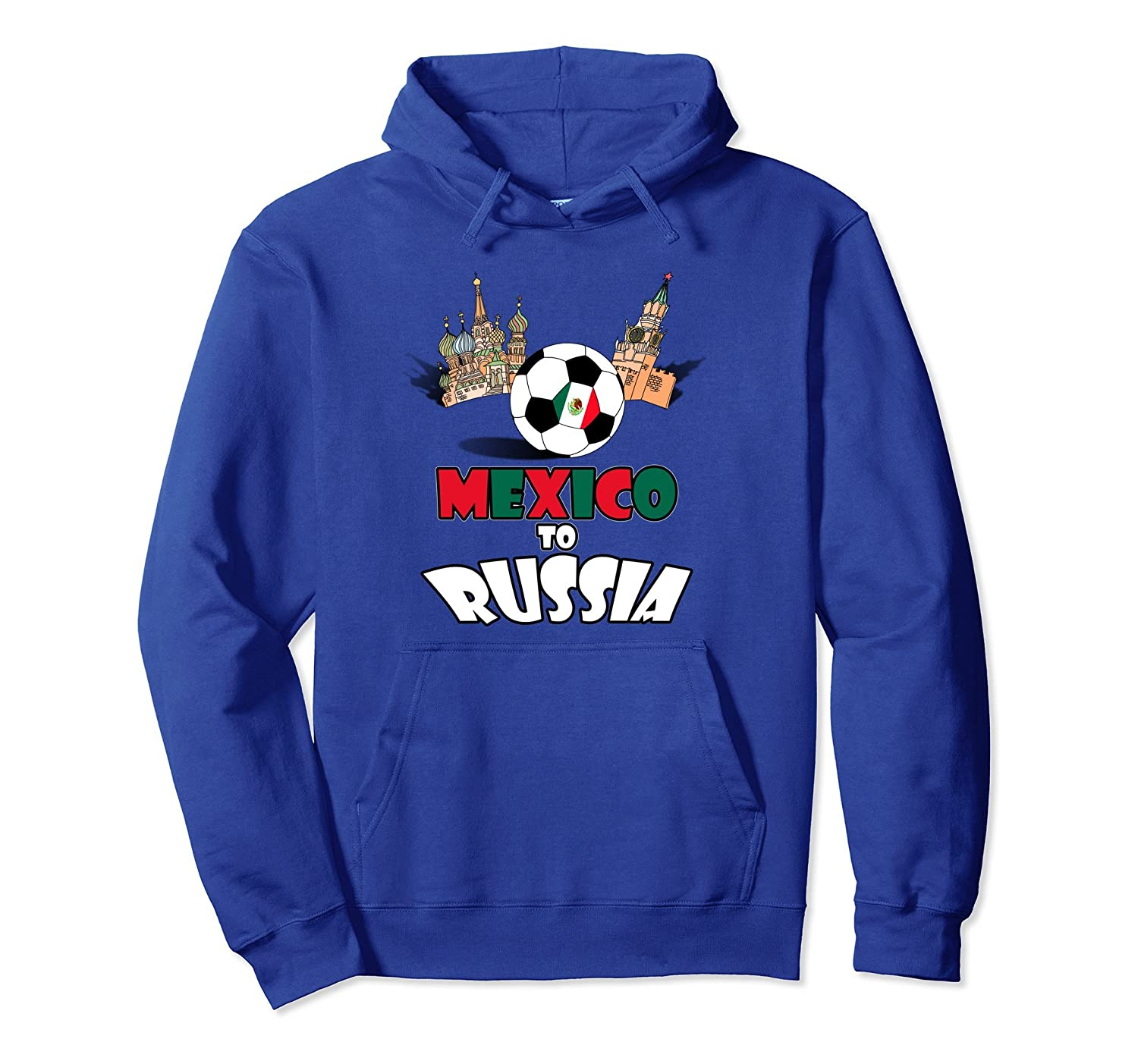 c8a0a6520 Amazon.com  Mexico National Soccer Team to Russia Pullover Hoodie  Clothing
