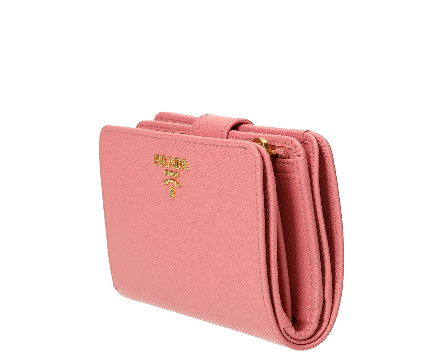 0dc103f8ef876 Prada Women s Saffiano Leather Wallet Pink at Amazon Women s Clothing store