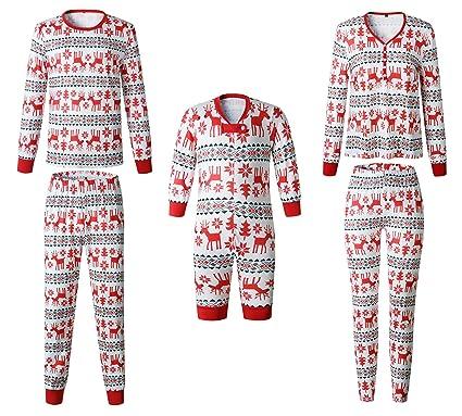 7186e0c56e3a9 Pyjamas de Noel Famille Garçon Fille du Nouveau-né Bébé Pyjamas à Deux  Pièces Set
