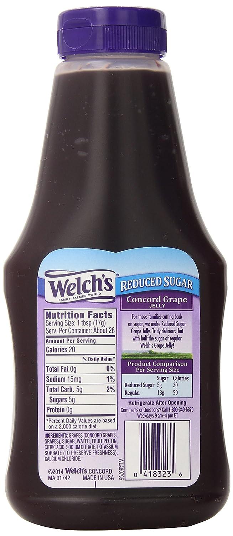 amazon com welch s reduced sugar concord grape jelly no