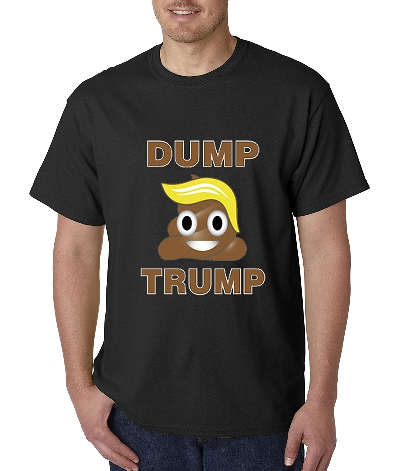 Amazon.com: allwitty 1041 - Unisex T-Shirt Dump Trump Poop Emoji President Election: Clothing