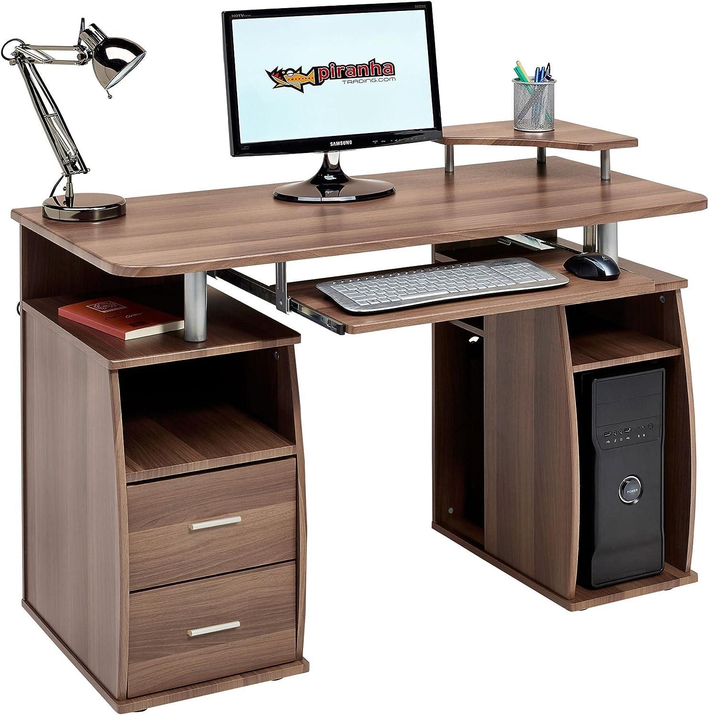 Piranha Trading Tetra Desk Dark Walnut PC5w