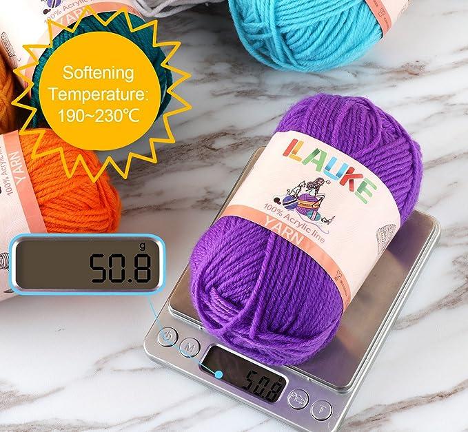 600g Arco Iris Hilo Tejer Crochet Cuadrados oscuro bolas juguetes Artesanía acrílico dk pk2