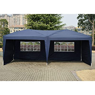 9TRADING 10' X 20' Outdoor Patio Gazebo EZ POP UP Party Tent Wedding Canopy with Carry Bag, Blue : Garden & Outdoor