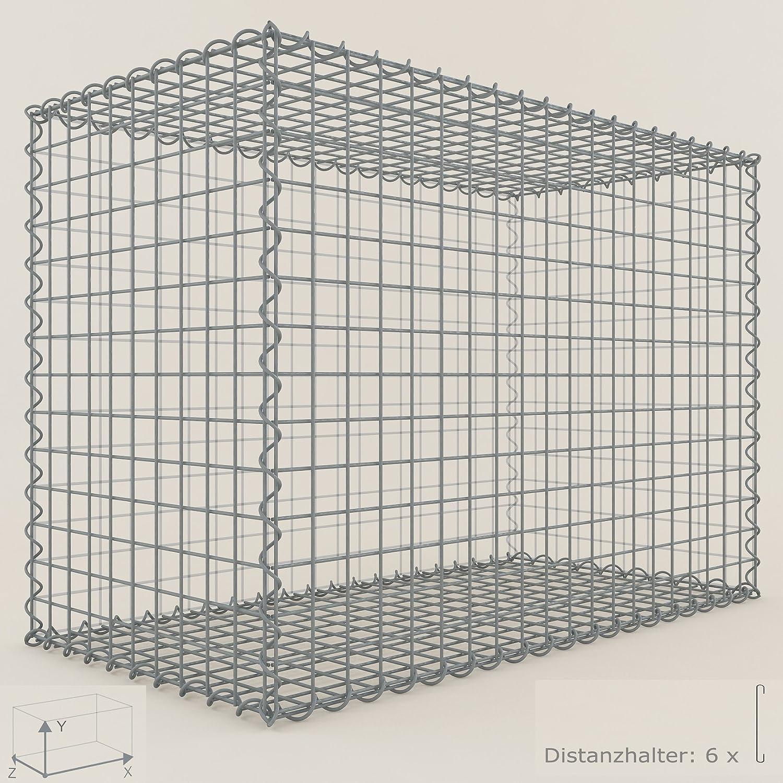 mesh wire 10 x 10 cm Stone Basket 100 x 90 x 50 cm GABION Gabions