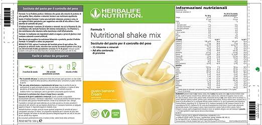 Batido Formula 1 Herbalife Nuevo Sabor PLATANO BANANA 550 gr sustitutivo comida batido nutricional: Amazon.es: Salud y cuidado personal