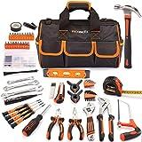 REXBETI 169-Piece Premium Tool Kit with 16 inch Tool Bag, Steel Home Repairing Tool Set, Large Mouth Opening Tool Bag…