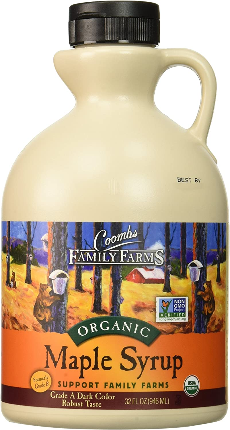 Coombs Family Farms Maple Syrup, Organic, Grade A, Dark Color, Robust Taste, 32 Fl Oz 817grsuaxYL