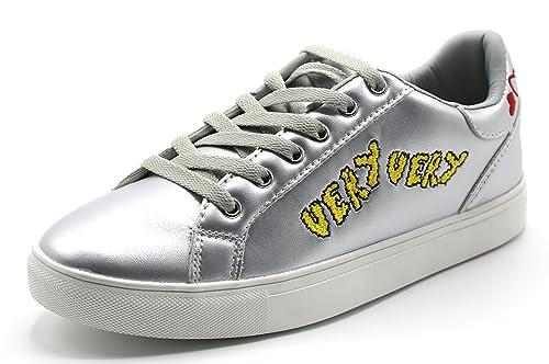 Brauch Women's Silver Metallic Sneakers