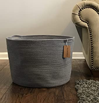 Cool Rope Basket 23X13X17 Extra Large Laundry Baskets Blanket Basket Storage Blankets Grey Andrewgaddart Wooden Chair Designs For Living Room Andrewgaddartcom