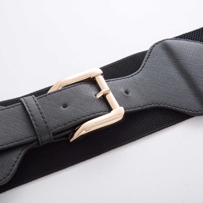 GRACE KARIN Women Elastic Stretchy Vintage Wide Waist Cinch Belt with Buckle