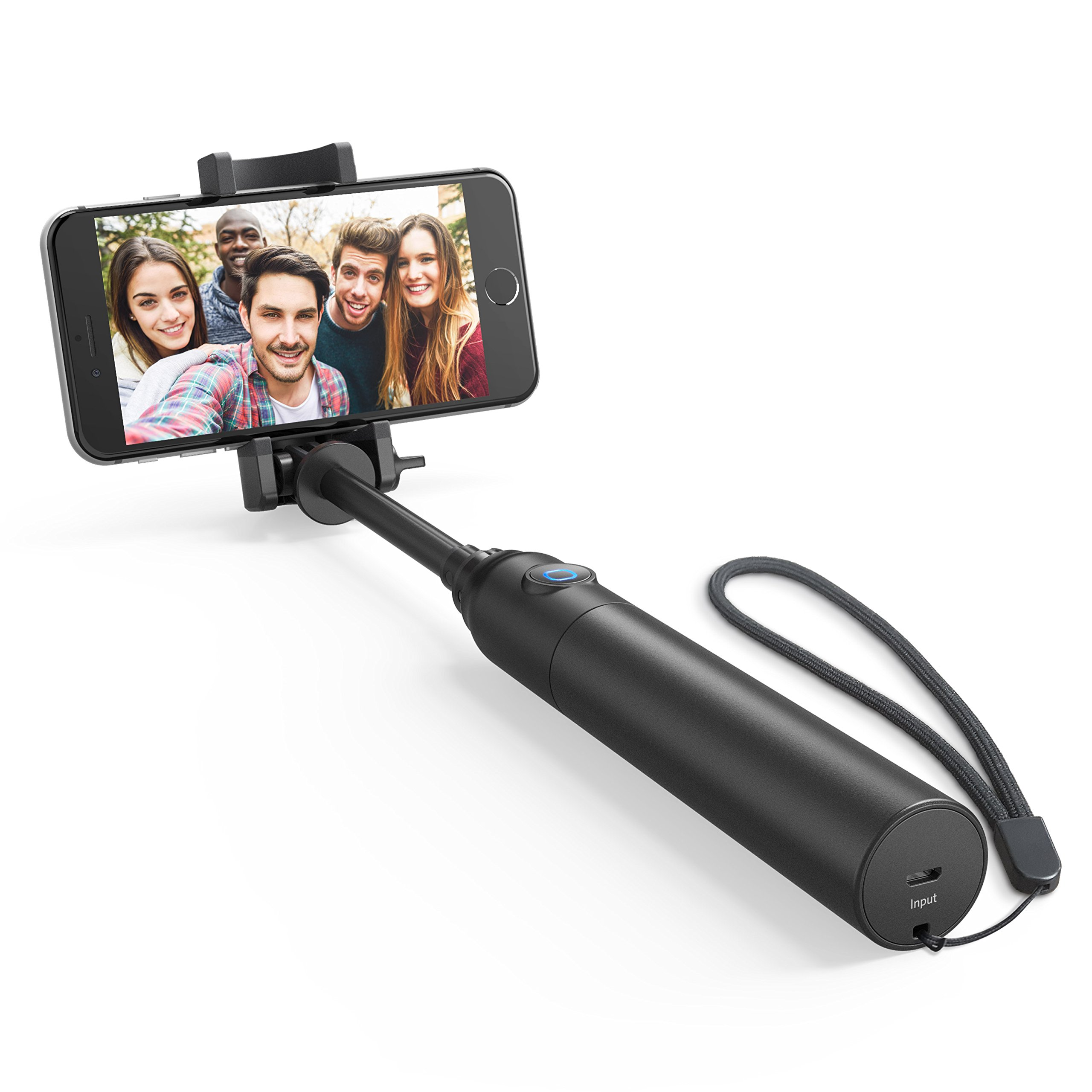 Selfie Stick, Anker Bluetooth Highly-Extendable and Compact Handheld Monopod with 20-Hour Battery Life for iPhone X/8/8 Plus/7/7 Plus/Se/6s/6/6 Plus, Galaxy S8/S7/S6/Edge, LG G5, Pixel 2 and More by Anker (Image #1)