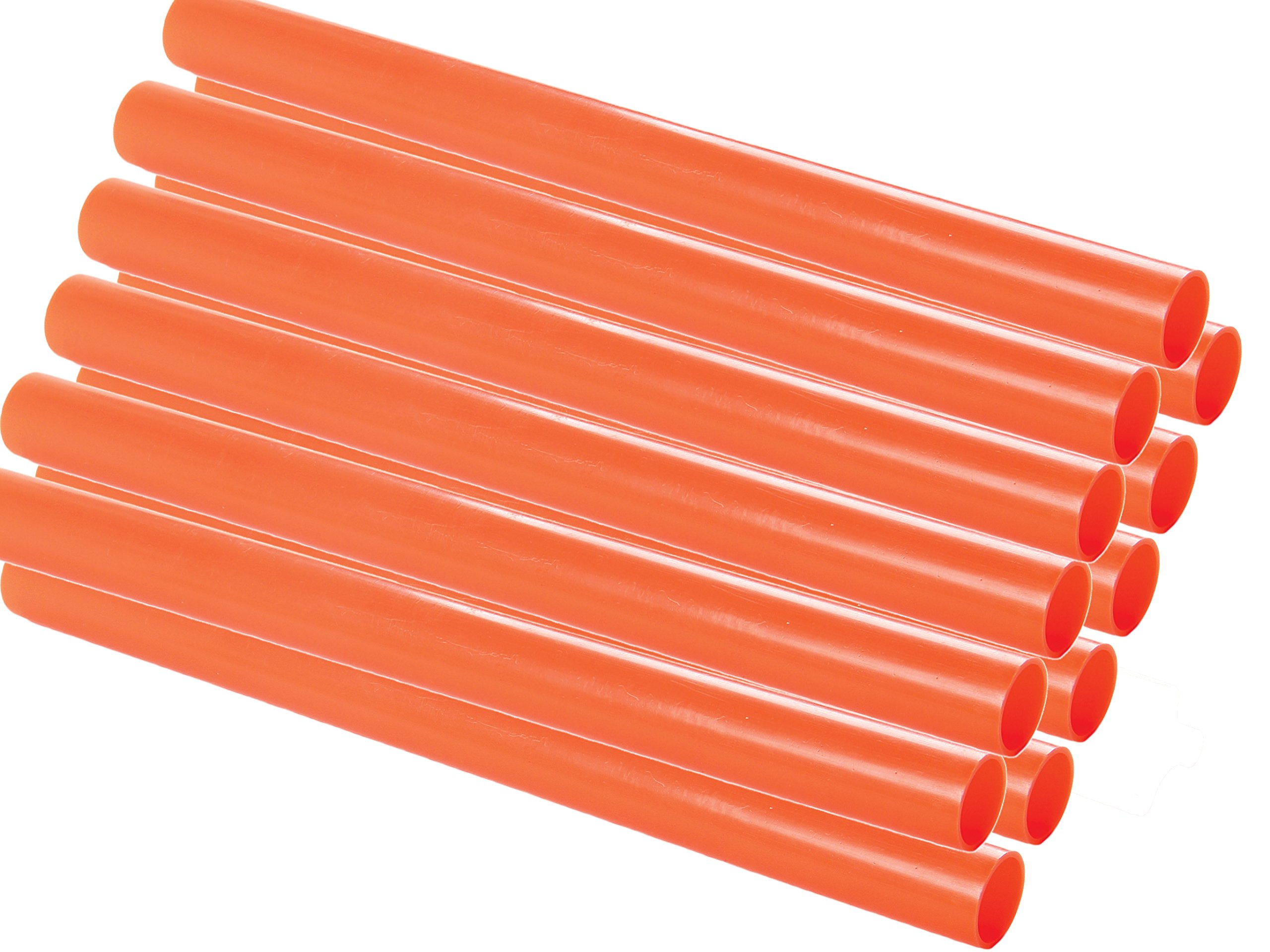 Safety Depot Orange High Visibility High Density Plastic Traffic Wand for Airports, Police, Directing Traffic, Construction, Parking, and Marshalling Baton Dw16-r (12 Pack Round) by Safety Depot