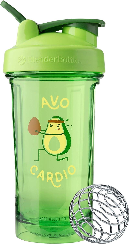 BlenderBottle Pro Series Foodie Shaker Bottle, 24oz, Avo Cardio