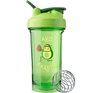 BlenderBottle C04203 Pro Series Foodie Shaker Bottle, 24oz, Avo Cardio
