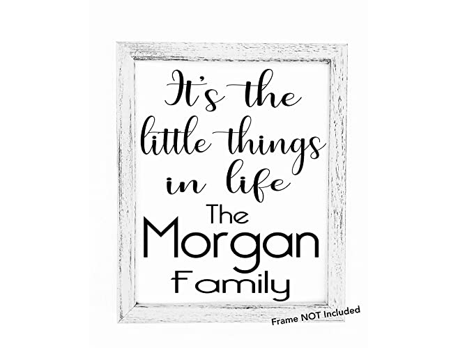 Amazon.com: It\'s The Little Things In Life 8x10 Custom Print ...
