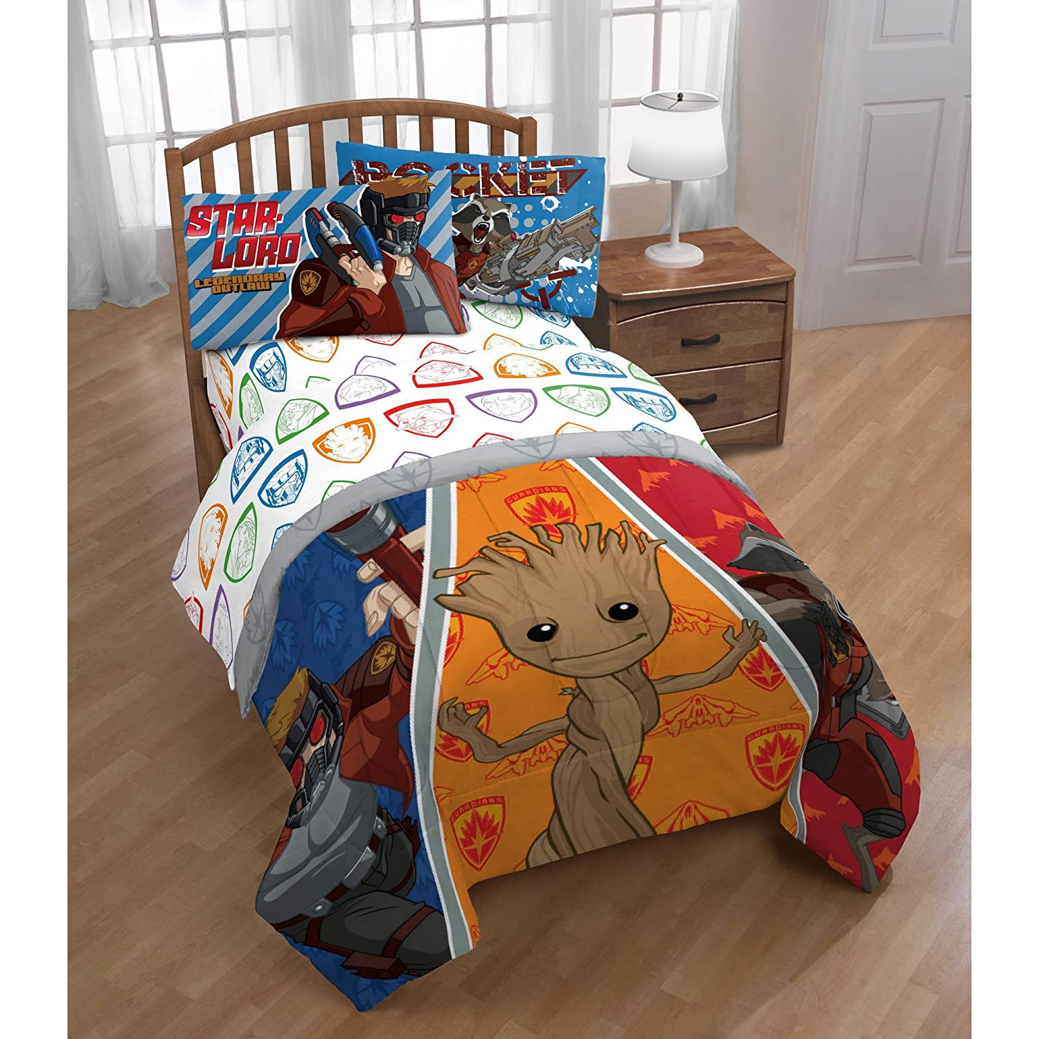 Guardians of the Galaxy 2, Twin Comforter and Sheet Set - 4 Piece J Franco