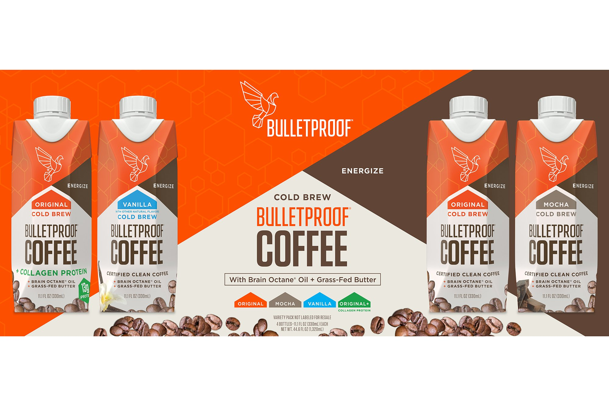 Bulletproof Coffee Cold Brew Ready To Drink- Ketogentic Diet, Sugar-Free, Includes Grass-Fed Butter and Brain Octane Oil, Vanilla (12 Pack) by Bulletproof (Image #5)