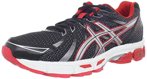 ASICS Mens GEL-Exalt Running Shoe,Black/Silver/Red,8 M