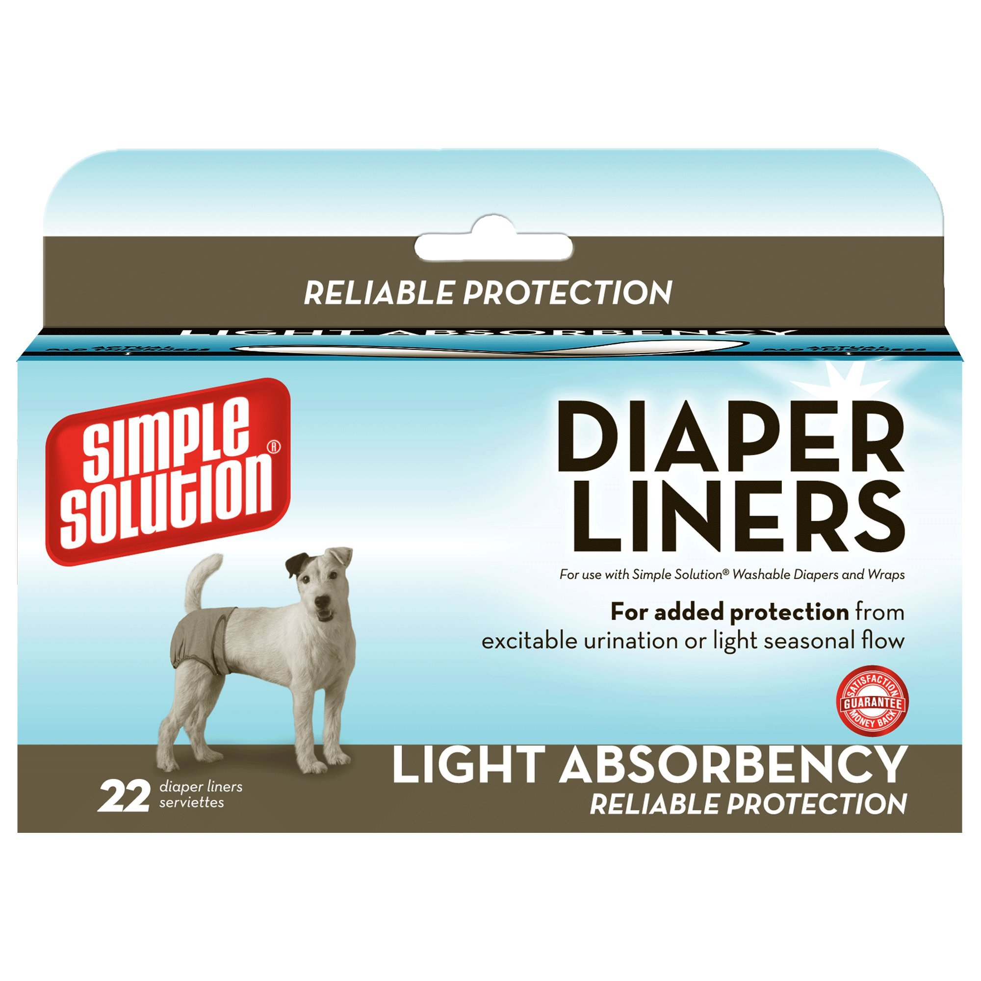 Simple Solution Disposable Liners Light Absorbency, 22 Count