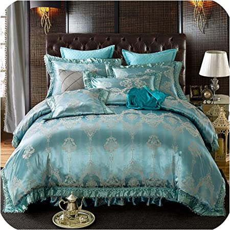 COTTON SATIN BED SHEET SET 4 PCS UK KING SIZE