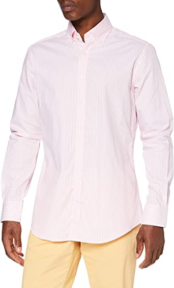 Hackett London Skinny Bgl Str Camisa para Hombre: Amazon.es: Ropa y accesorios