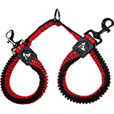 Kruz Double Dog Coupler - KZVX2- Tangle Free Dog Walking and Training Dual Extension Coupler - Comfortable, Shock Absorbing -