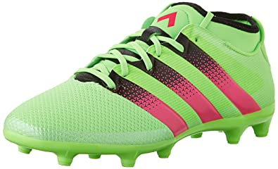 Adidas Performance Mens Ace 16 3 FG AG Soccer ShoeShock Green Shock Pink