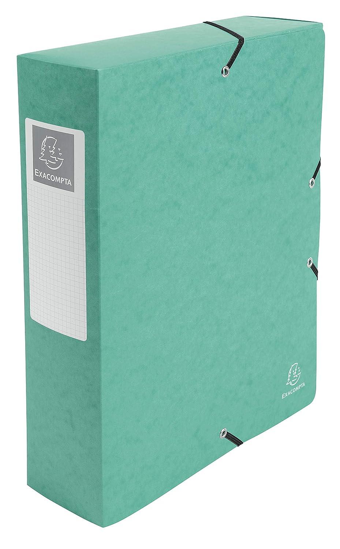 Exacompta 50833e exabox caja de índice (cartulina brillante ancho de 8 cm), color verde: Amazon.es: Oficina y papelería