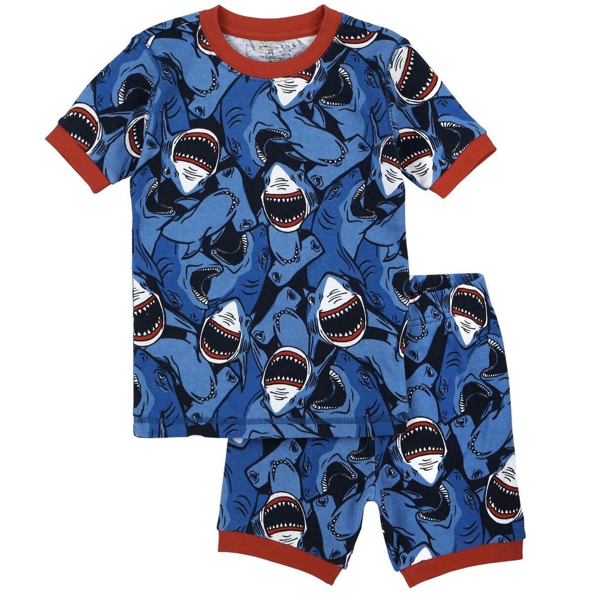 Petit Lem Big Boys Shark Attack Jaws Pajama 17SP24CU36