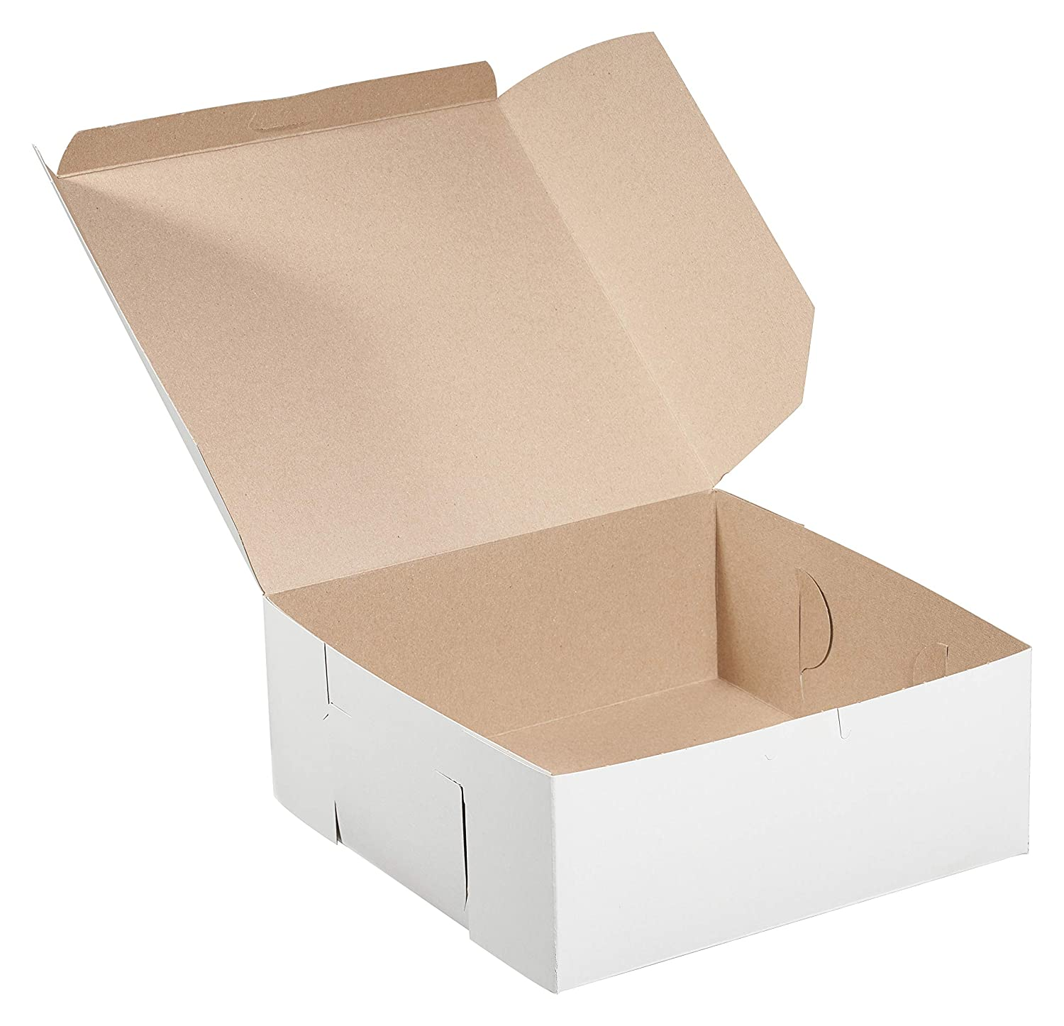 Cakes Eco Friendly Paper Cardboard Recyclable for Pastries White Kraft Paperboard for Home or Retail Baby Shower White Bakery Pastry Boxes 10 x 10 x 5 Inches Gift Box Pies Cookies 20 Pack